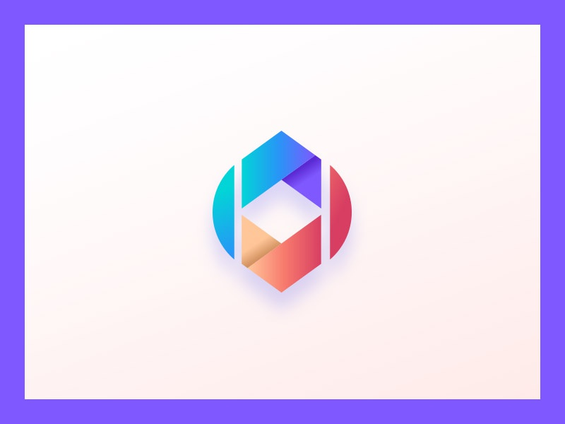 Unused Mark identity mark logo depth 3d gradient colorful
