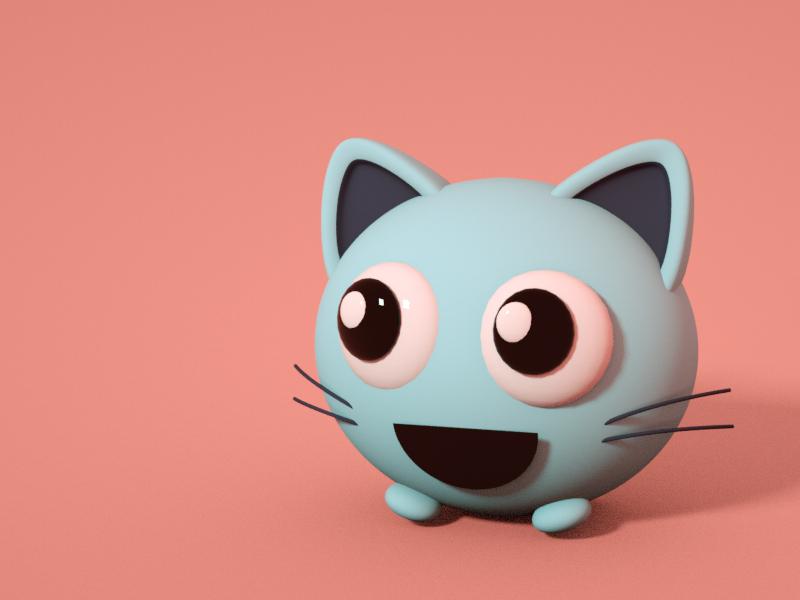 Catball cat 3d