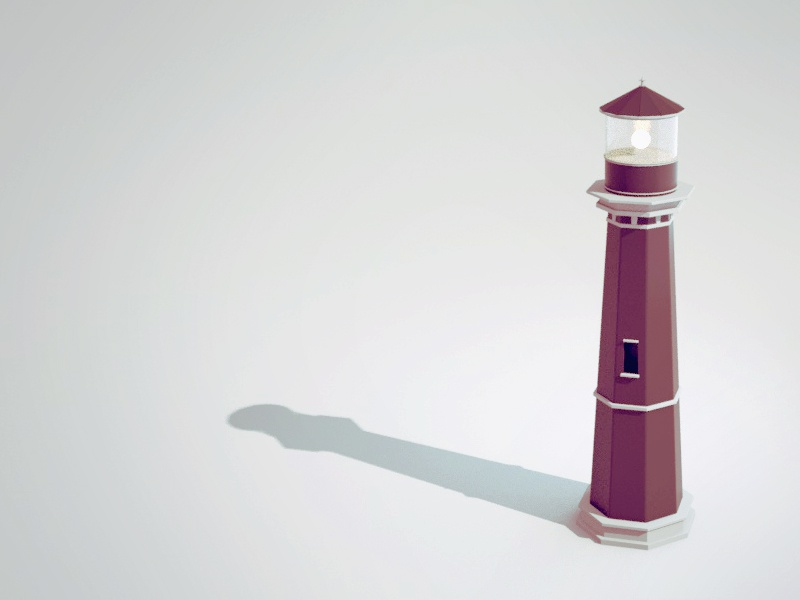 Lighthouse desaturated object lighthouse sea model 3d cinema 4d