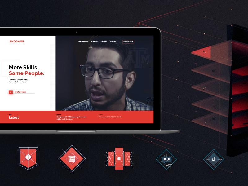 Endgame red icons enterprise tech website