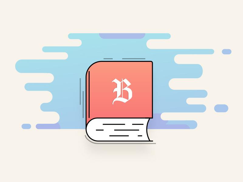 Book flat illustration vector