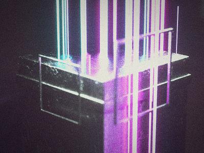 Junk Data cyberpunk scifi neon 3d art