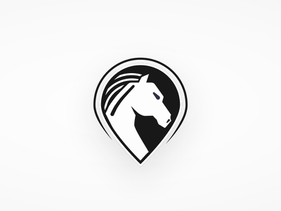 Horse Point icon pinpoint horse logo
