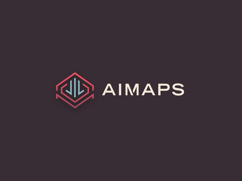 AIMaps Logo stroke line logo