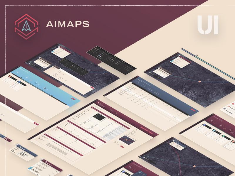 AIMAPS UI cards data map table platform dashboard ui