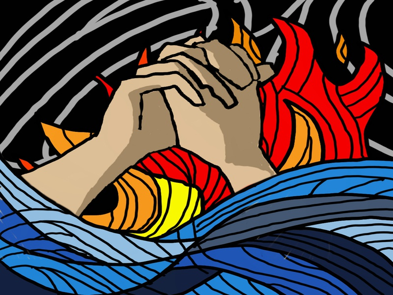 the prayer illustration