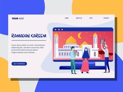 Ramadan Kareen Flat Design Illustration