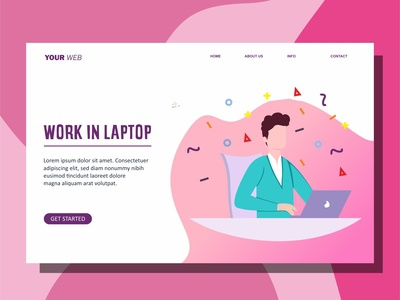 People Work With Laptop