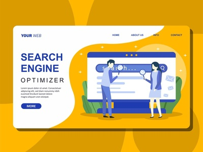 Flat Illustration of Search Engine Optimizer