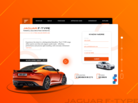 Jaguar F-Type Landing UI Design