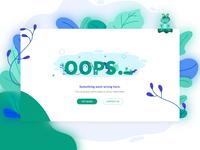 Oops / 404 UI Concept