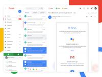 Gmail Redesign UI Concept