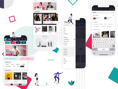 UI Concept - Home | Hamburger Menu | Search