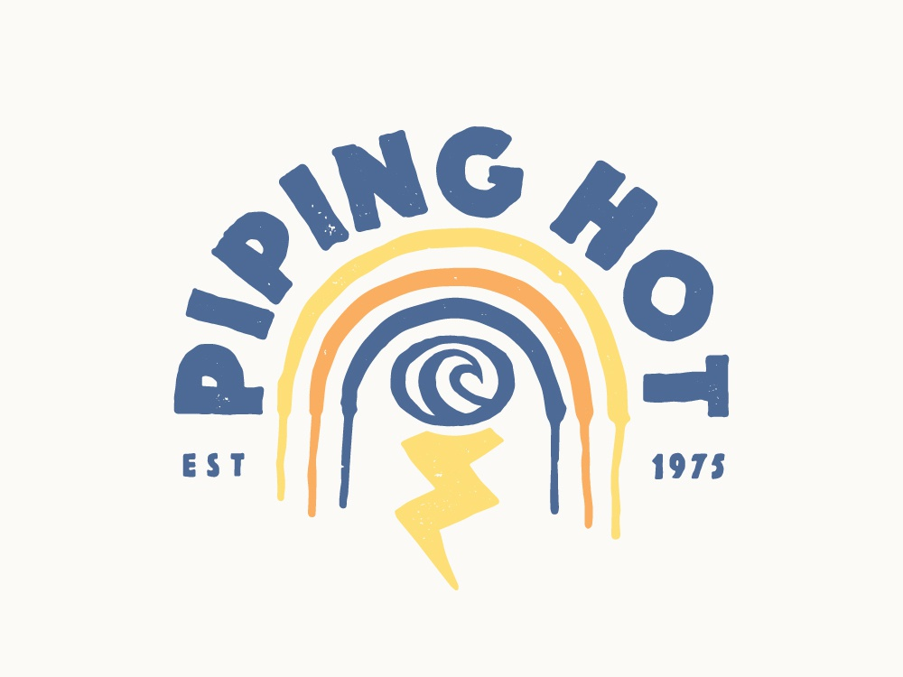 Piping Hot Surfwear Logo by Stuart Smythe on Dribbble