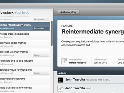 Tracker app blue webapp list