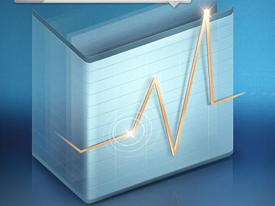 Graph icon graph icon blue star
