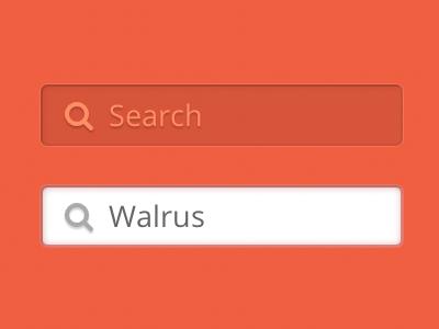 Orange search bar