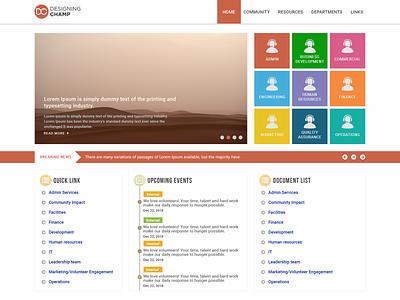 SharePoint Intranet Site html5 branding psd ui  ux sharepoint
