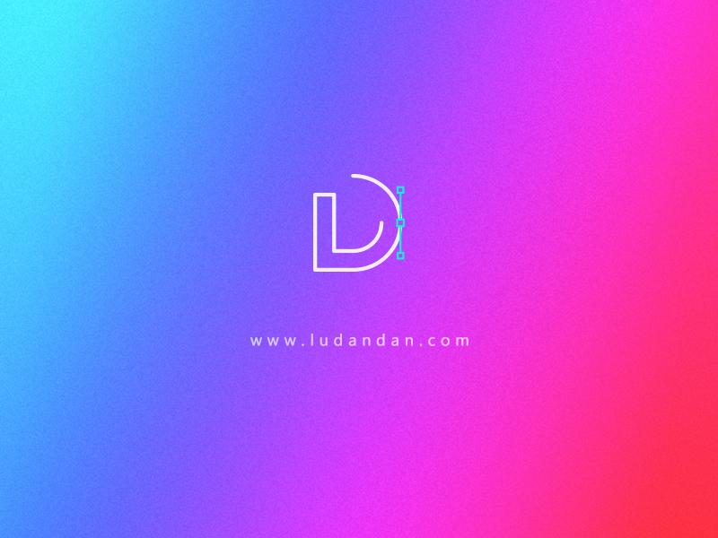 LuDandan's website logo web illustration design logo