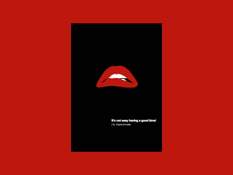 Pop Art Greetings Card The Rocky Horror Picture Show By Layla Ferdowsian On Dribbble