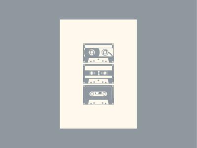 Vintage print - cassettes