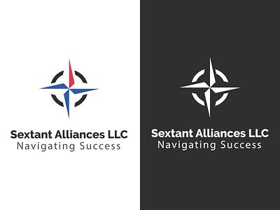 Sextant Alliances type minimalist minimal logo illustrator icon vector design flat branding