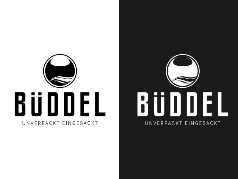 BÜDDEL logo identity design type vector minimal illustrator icon flat branding