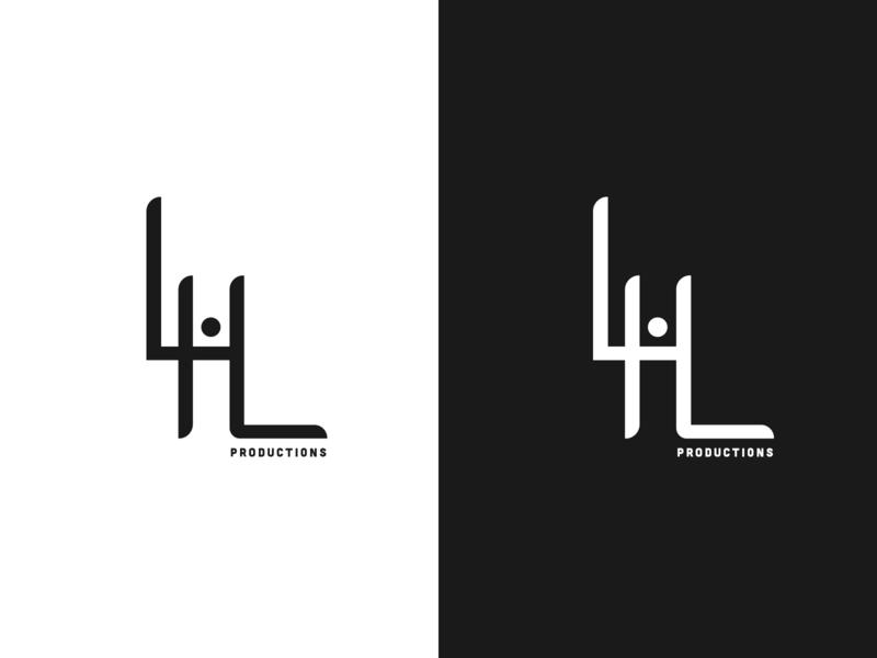 LHL minimalist lettering logo vector identity illustrator minimal design flat branding