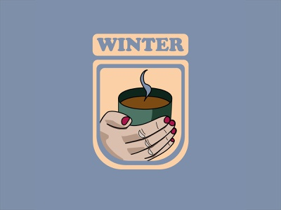 Winter is Coming poster logo winter is coming cold warm hand coffee winter