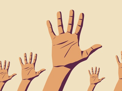 Lend a Hand illustration 2020 hope hard difficult give hands help hand