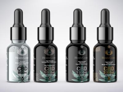 Hemp & Glory Full Spectrum CBD Oils Packaging Design