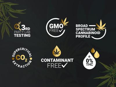 Hemp & Glory Product Logos