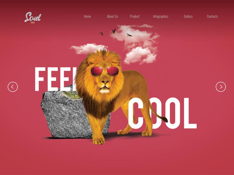 Soul Coal _Web banner website concept minimal ui ux design web design
