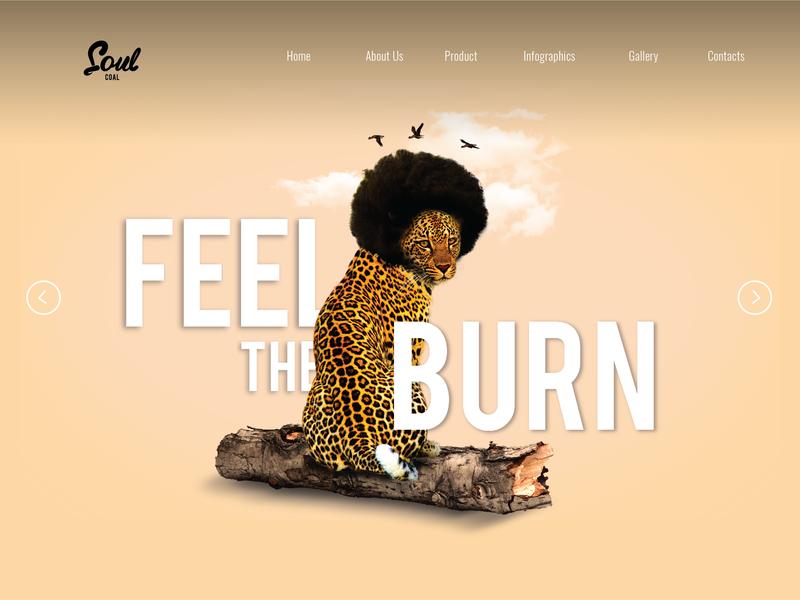 Soul Coal Banner website afro photo manipulation minimal graphic design web design