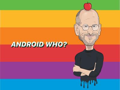 "Steve Jobs ""Android Who?"" Illustration"