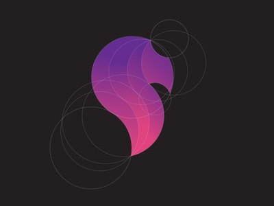 Lion Gradient Circle Logo