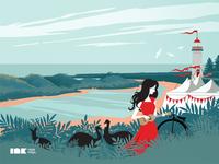Port Fairy Folk Music Festival Poster Illustration