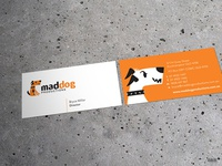 MadDog Productions Business Cards