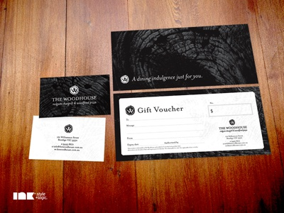 The Woodhouse Business Card & Gift Voucher the woodhouse stationery business card gift voucher restaurant