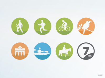 Loddon Trails Icons loddon shire trails icons walking running cycling wildlife heritage canoeing horseriding distance