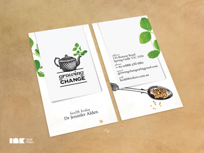 Growing Change Business Card growing change business card