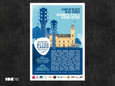 Bendigo Blues & Roots Music Festival 2012 Poster 2012 poster illustration