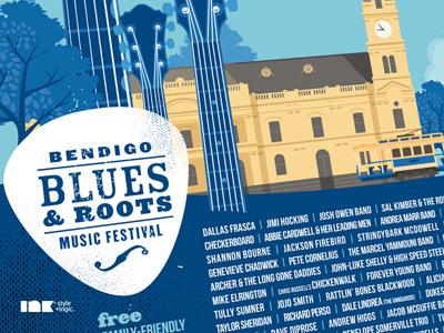 Bendigo Blues & Roots Music Festival 2012 Poster Detail 2012 poster illustration