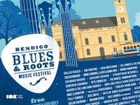 Bendigo Blues & Roots Music Festival 2012 Poster Detail