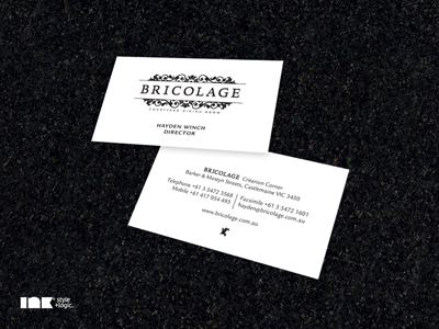 Bricolage Business Cards bricolage restaurant business cards