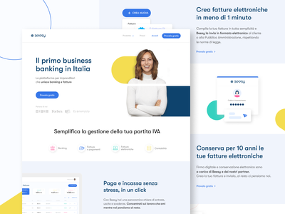 NEW Beesy Homepage debutshot debuts tax tax advisor payments electronic invoice transactions banking invoices redesign ui  ux uidesign features page color homepage landing design clean