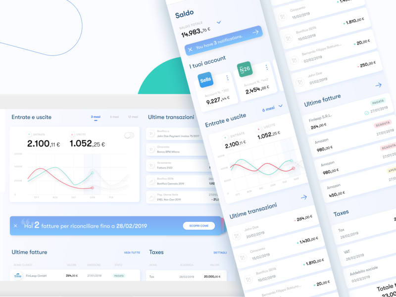 Beesy Dashboard finance beesy banking reconcile uidesign mobile platform list tabs graph notifications taxes transactions invoices fintech accounts desktop responsive dashboard app dashboard