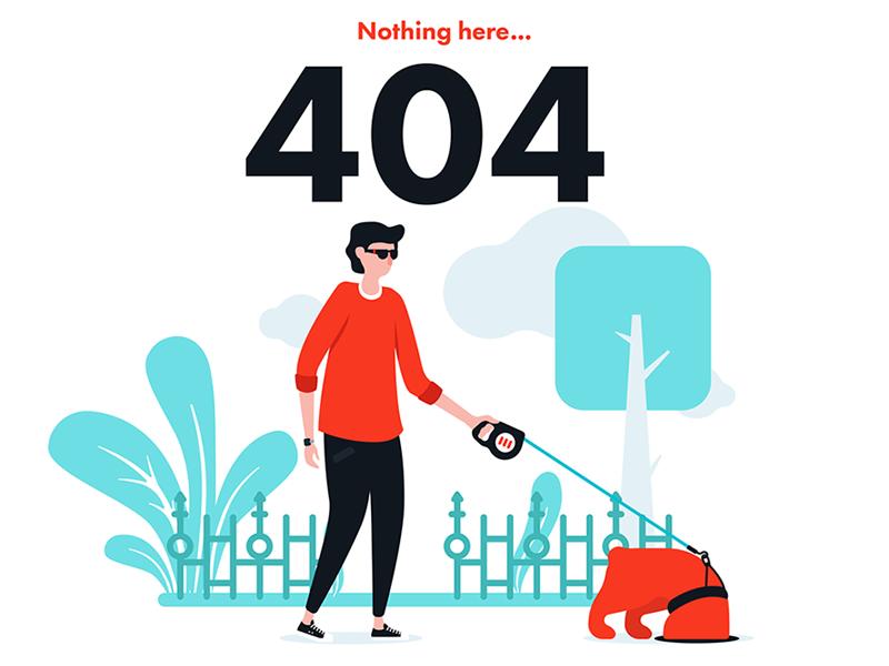 Error 404 flat design flat illustration error page 404 vector art vector illustrator character illustration