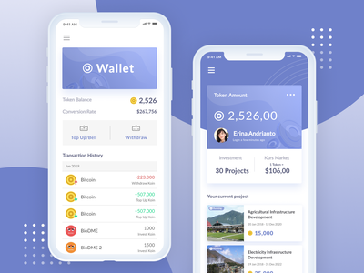 Crypto Wallet UI Exploration website flat ux ui design web mobile responsive crypto currency