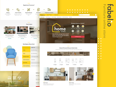 Fabelio Project ecommerce furniture ux ui website web mobile responsive